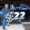 Willie Strusz #22 Heat Winner Oswego Speedway June 8, 2019.